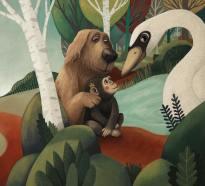 perro mono y ganzo