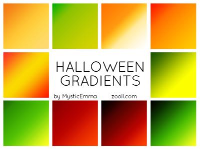 Halloween Gradients Preview