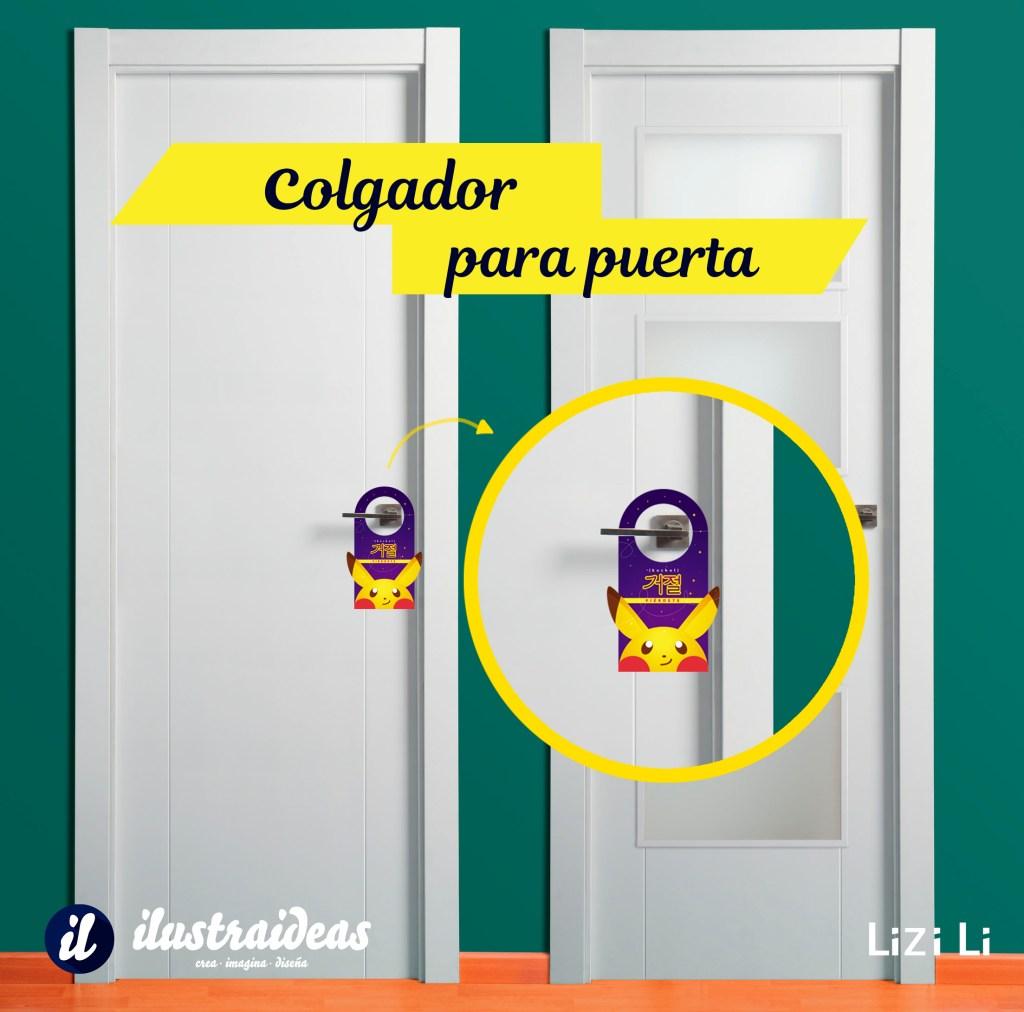 Colgadores de puerta pok mon ilustraideas for Colgadores para puertas