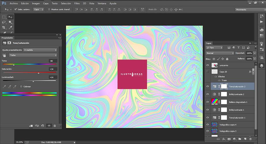 crea wallpaper efecto holográfico