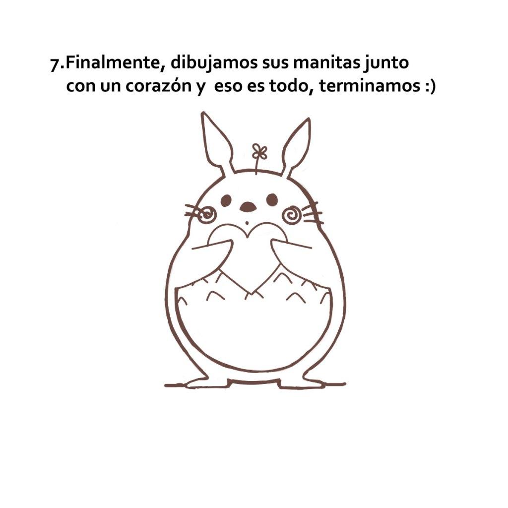 dibujar a Totoro