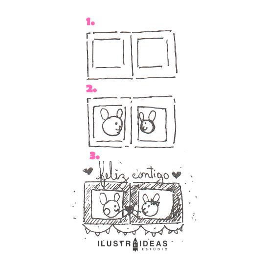 8 dibujos fáciles para principiantes_cuadro_rabbit_