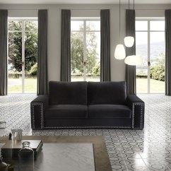 Sofa Modernos 2017 Spiers In Teal 3 Seats Luxury Velvet E Sfa 4 Iluti Lugares Sofas Em Veludo Luxuoso Preto