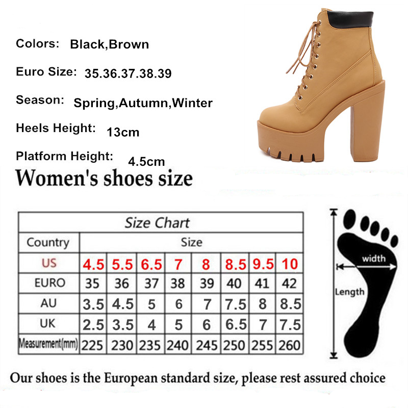 "e8756cefac03 ... Platform Ankle Boots Women Lace Up Thick Heel – ""Fashion Spring-Autumn""  – 50%OFF. Sale! 🔍. variations"