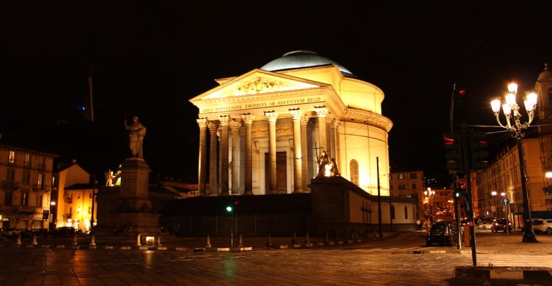 Chiesa della Gran Madre di notte
