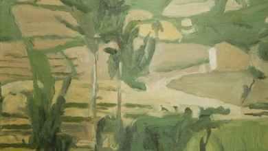 Paesaggio a Grizzana opera di Giorgio Morandi