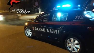 macchina Carabinieri Agrigento