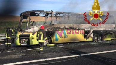 Incidente in A1, Pullman contro Tir