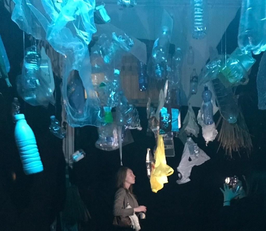 mostra sulla plastica in oceani, generazione blu