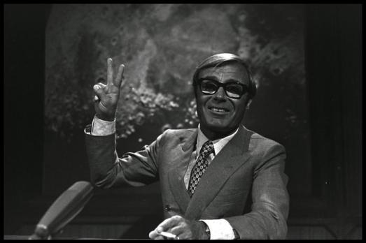 Tito Stagno in diretta dalla Rai per lo sbarco sulla Luna