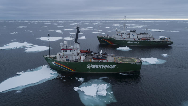 due navi greenpeace antartide