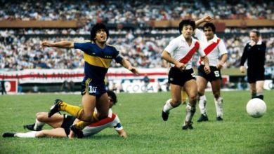 Maradona quando giocava con il Boca Junior