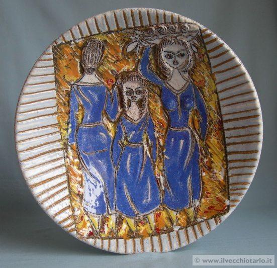 Ideale per piante di medio grandi dimensioni. Ceramica Artistica Di Caltagirone Piatto Ceramica Caltagirone Vintage