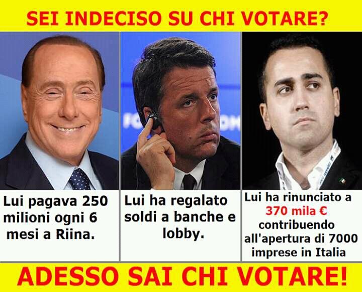 Sei indeciso per chi votare?