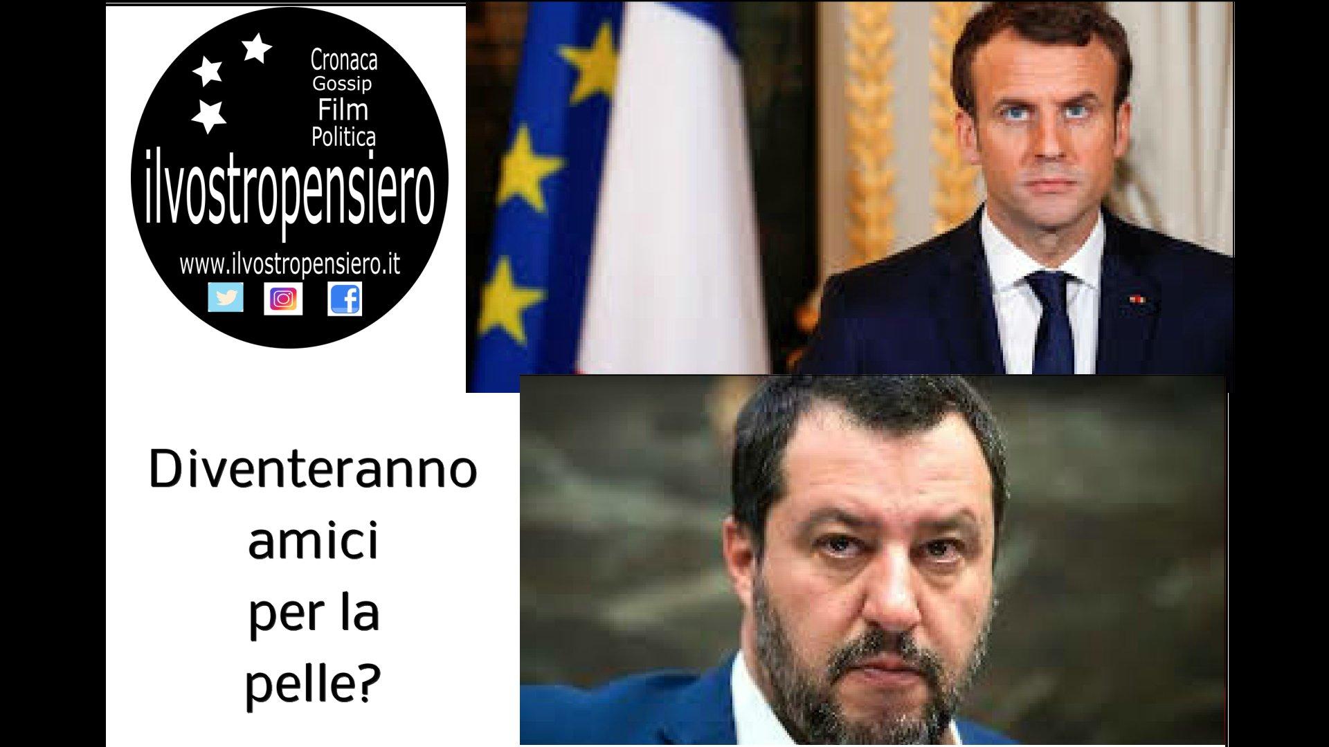 """Salvini: """"Non vogliamo litigare con nessuno, siamo disponibili a vedere Macron"""""""