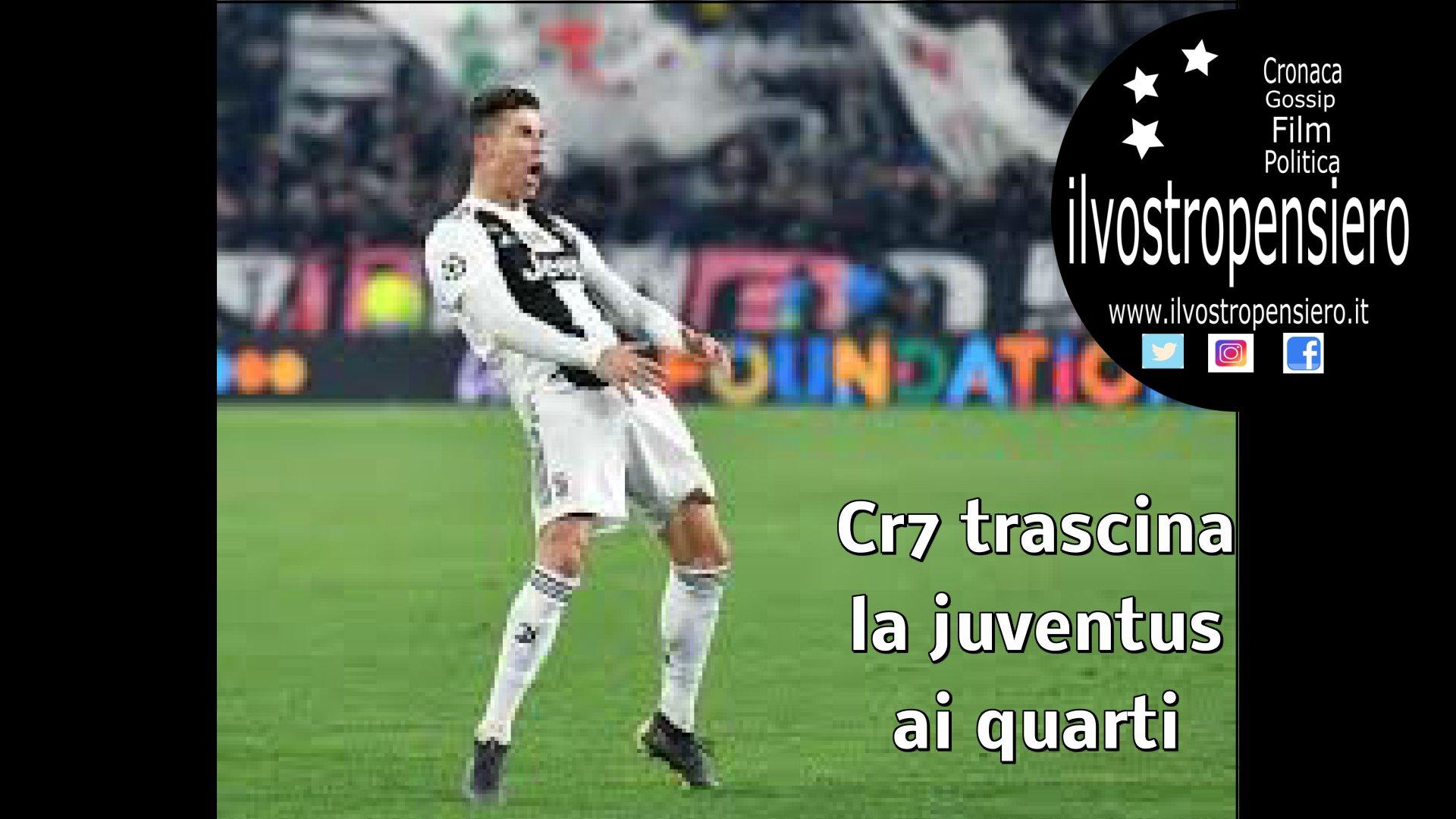 Champions League: Tripletta di Cr7 porta la Juventus nei quarti di finale ( hightlight)