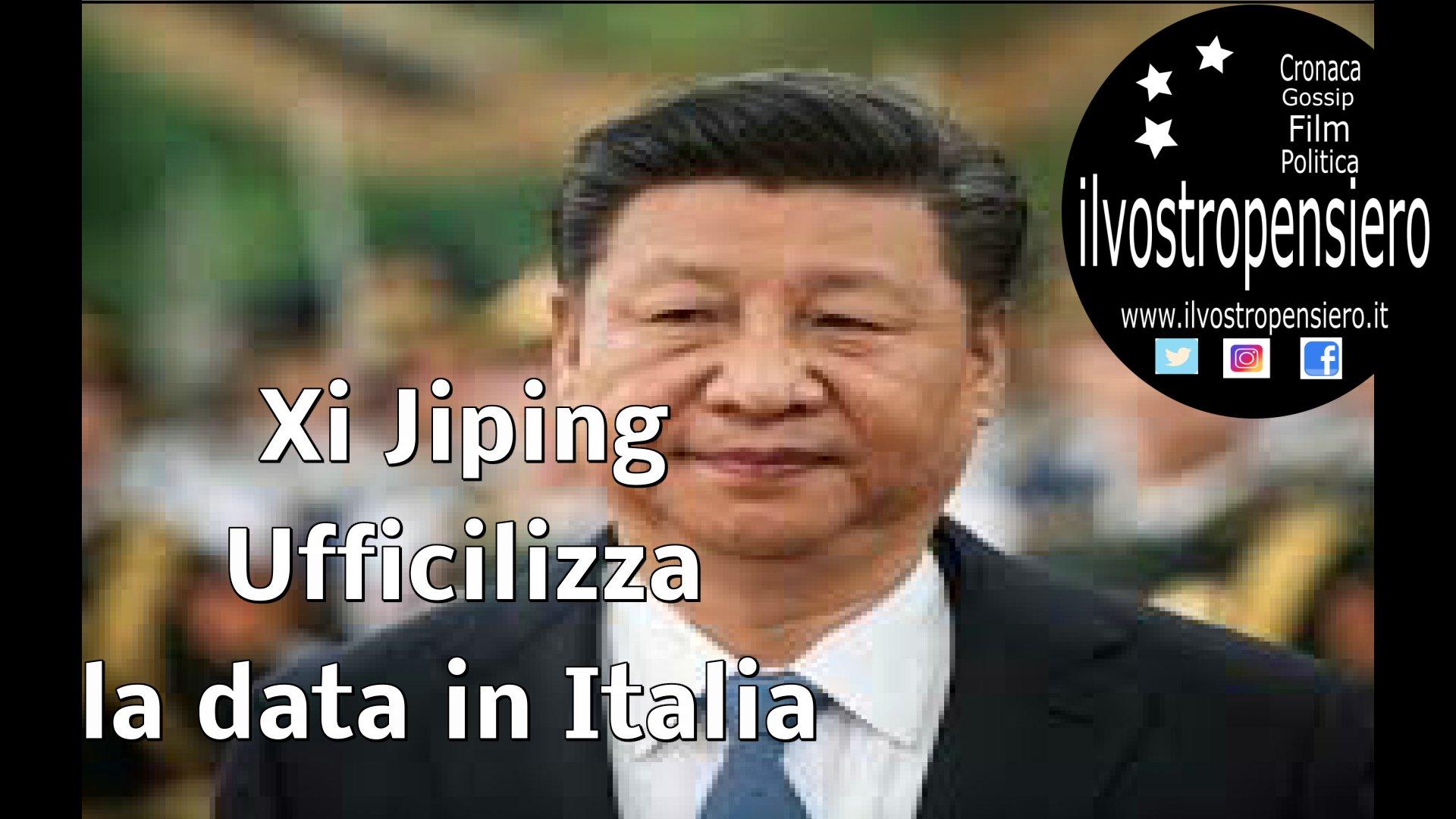 La Cina ufficializza la visita,Xi Jinping in Italia dal 21 marzo