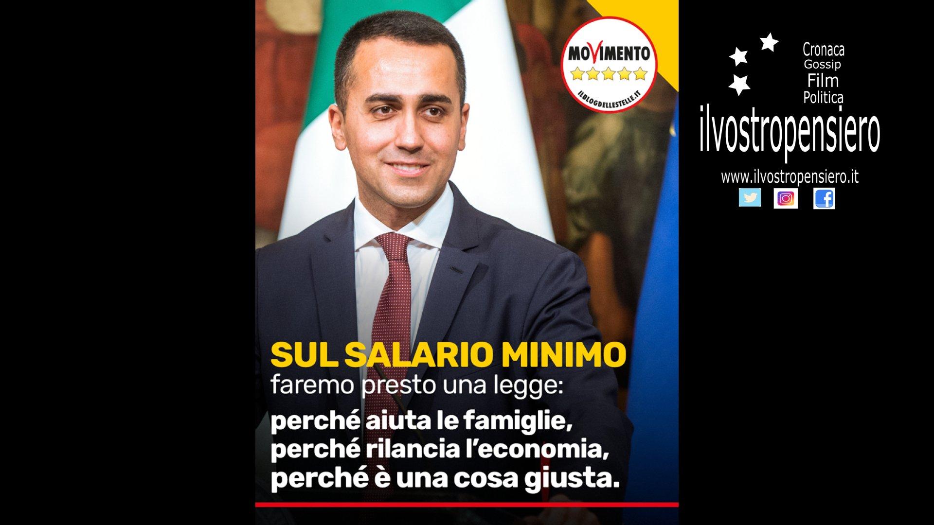 Movimento 5 Stelle: Salario Minimo è una battaglia che porteremo avanti.