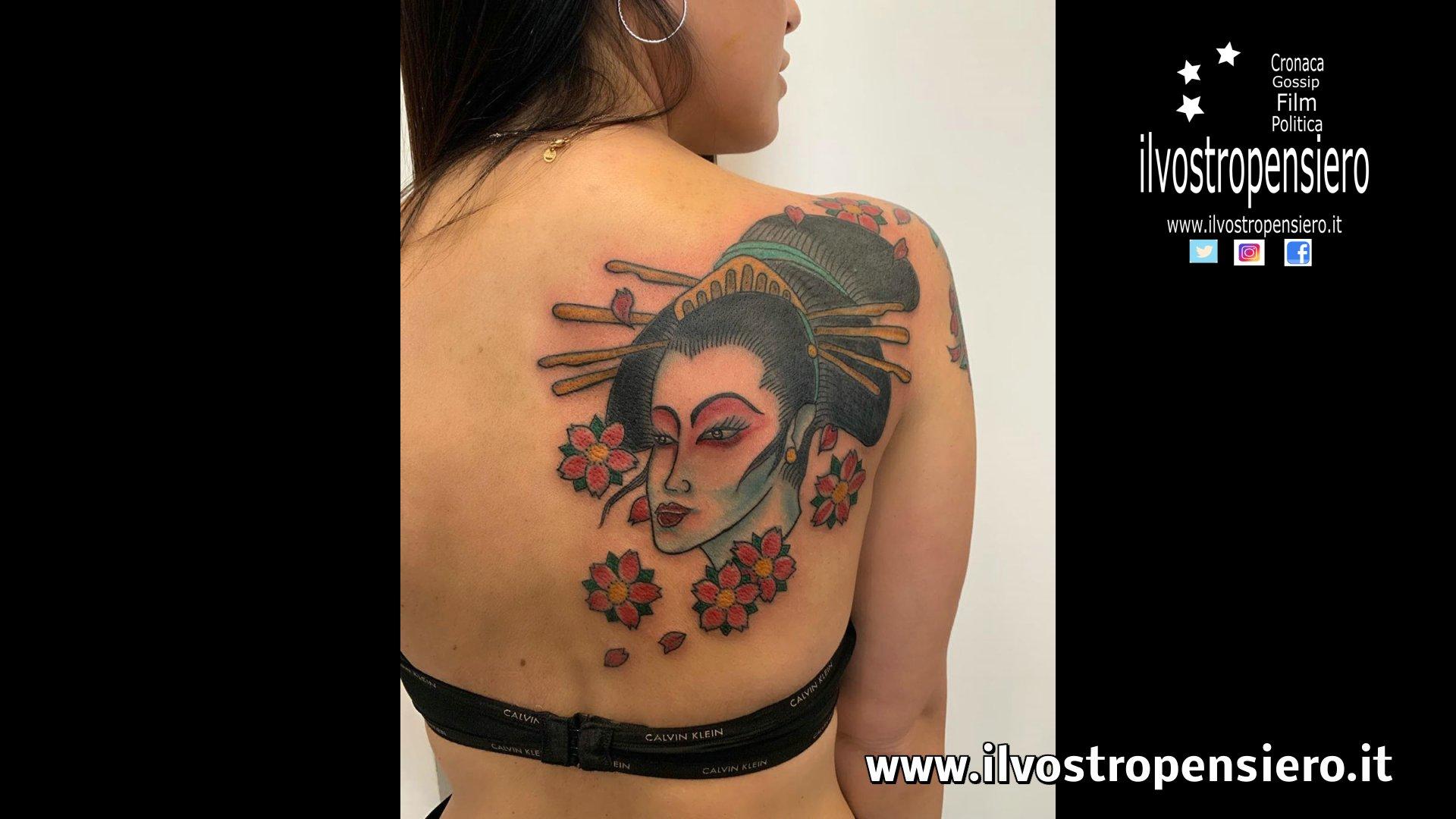 Eliana Michelazzo con la sua Geisha