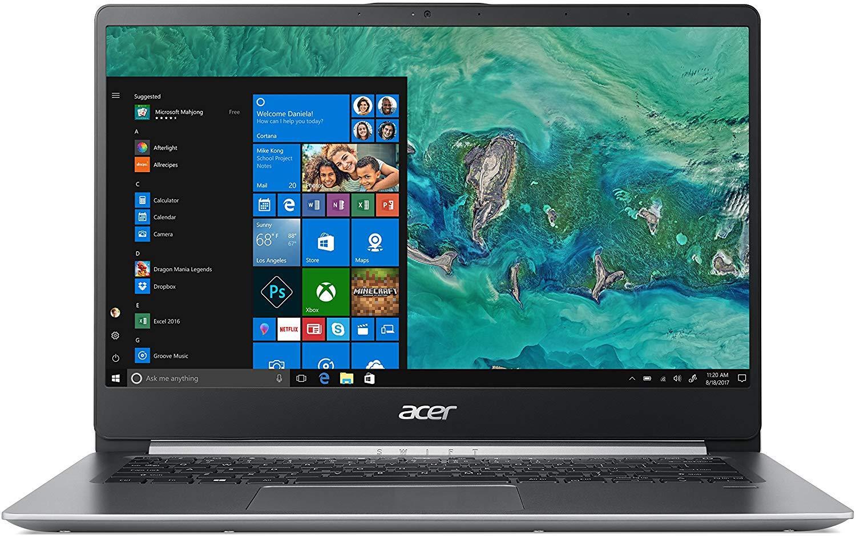 Acquista con sconto del 34% Acer Swift 1 SF114-32-P56T Notebook con Processore Intel Pentium Silver N5000, Ram da 4 GB, 128 GB SSD, Display 14″ FHD IPS LED LCD, Scheda grafica UHD 605, Windows 10 Home, Silver