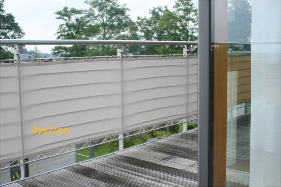 brise vue en toile pour balcons couleur