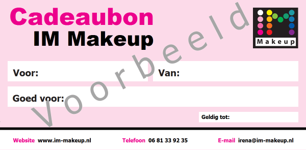 make up workshop cadeau