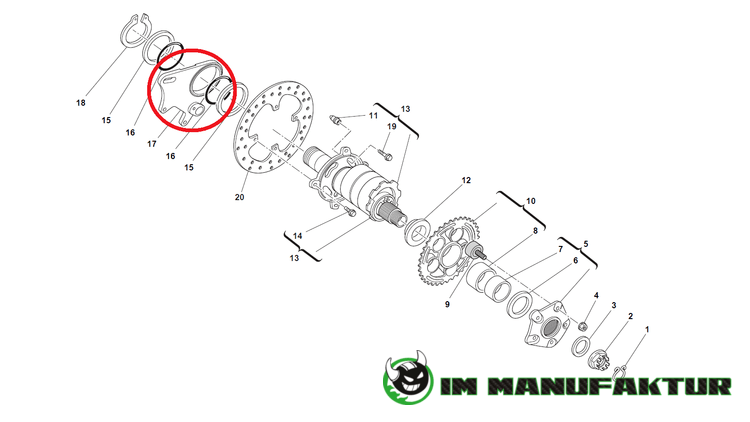 Ducati Bremssattelhalter S4RS für 245 mm Bremsscheibe