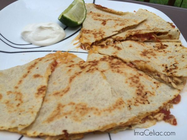 Gluten Free chicken quesadillas made in the slow cooker