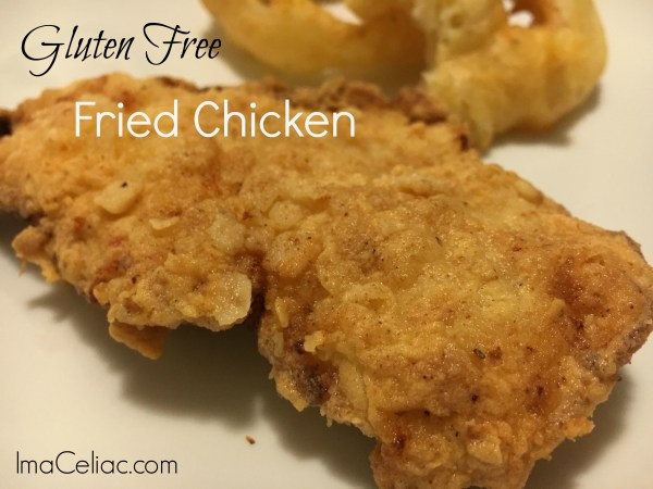 Simple recipe to make crunchy gluten free fried chicken that will make you think you are at KFC