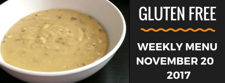 Gluten Free meal plan for Thankgiving
