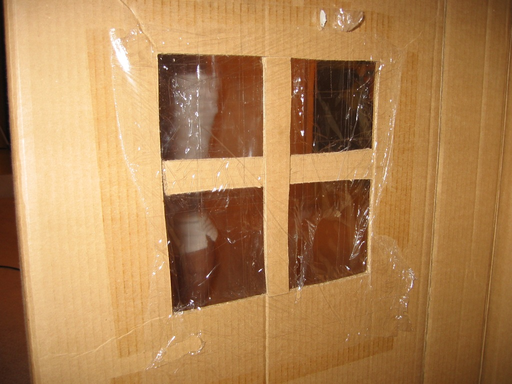Cardboard House For Windows Pictures to Pin on Pinterest