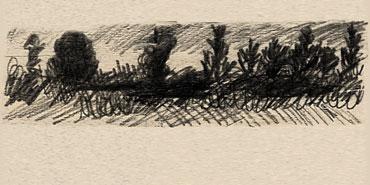 Dessin d'un paysage de campagne