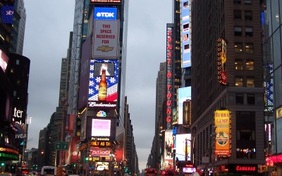 Cabs op Times Square
