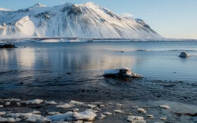 Fjord bij Borgarnes in IJsland