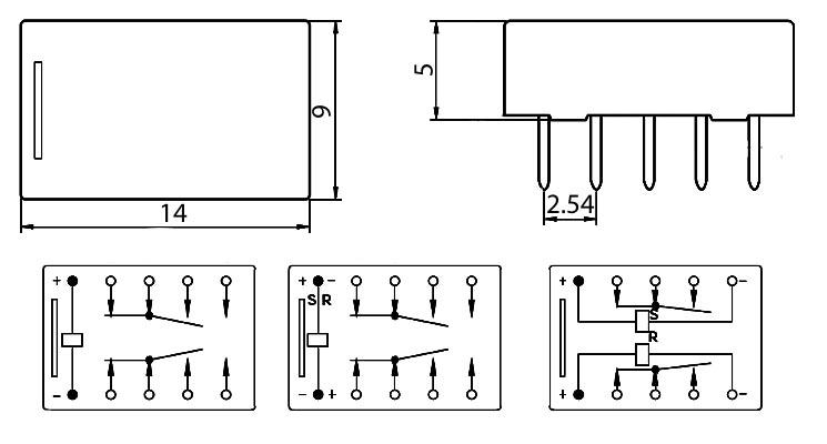 Datasheet of electromagnetic relay