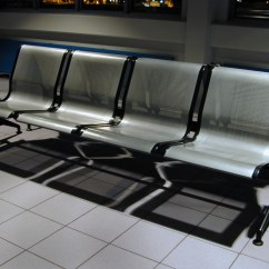 Steel Airport Chair Big Man And Ottoman Image After Photos Bench Benches Waiting Room