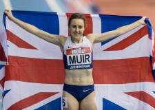 Laura Muir sets new british record in Birmingham 18th Feb 2017