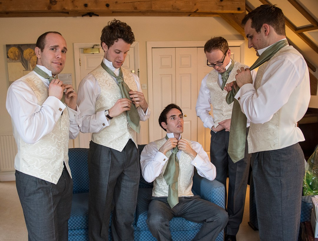 groom and party wedding photographer in Peterborough