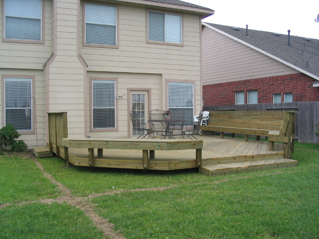 deck bench railing