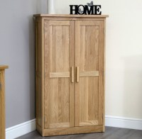 Arden solid oak hallway furniture shoe storage cabinet ...