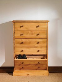 Hampton waxed pine furniture large shoe storage cabinet ...