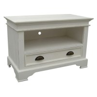 Small white tv stand  Furniture table styles