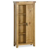 Monza solid oak furniture cd dvd storage bookcase rack