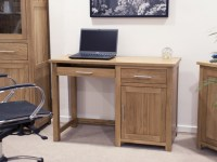 Eton solid oak modern furniture small office PC computer ...