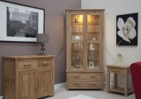 Eton solid oak living room furniture glazed display ...