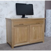 Eton solid oak furniture home office PC hideaway computer ...