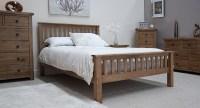Tilson solid rustic oak bedroom furniture 4'6 double bed ...