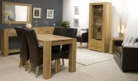 Pemberton solid oak furniture small living room office ...