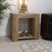 Pemberton solid chunky oak living room furniture lamp sofa ...