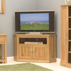 Corner Media Units Living Room Furniture Small Layout Ideas Uk Conran Solid Oak Television Cabinet Details About Stand Unit